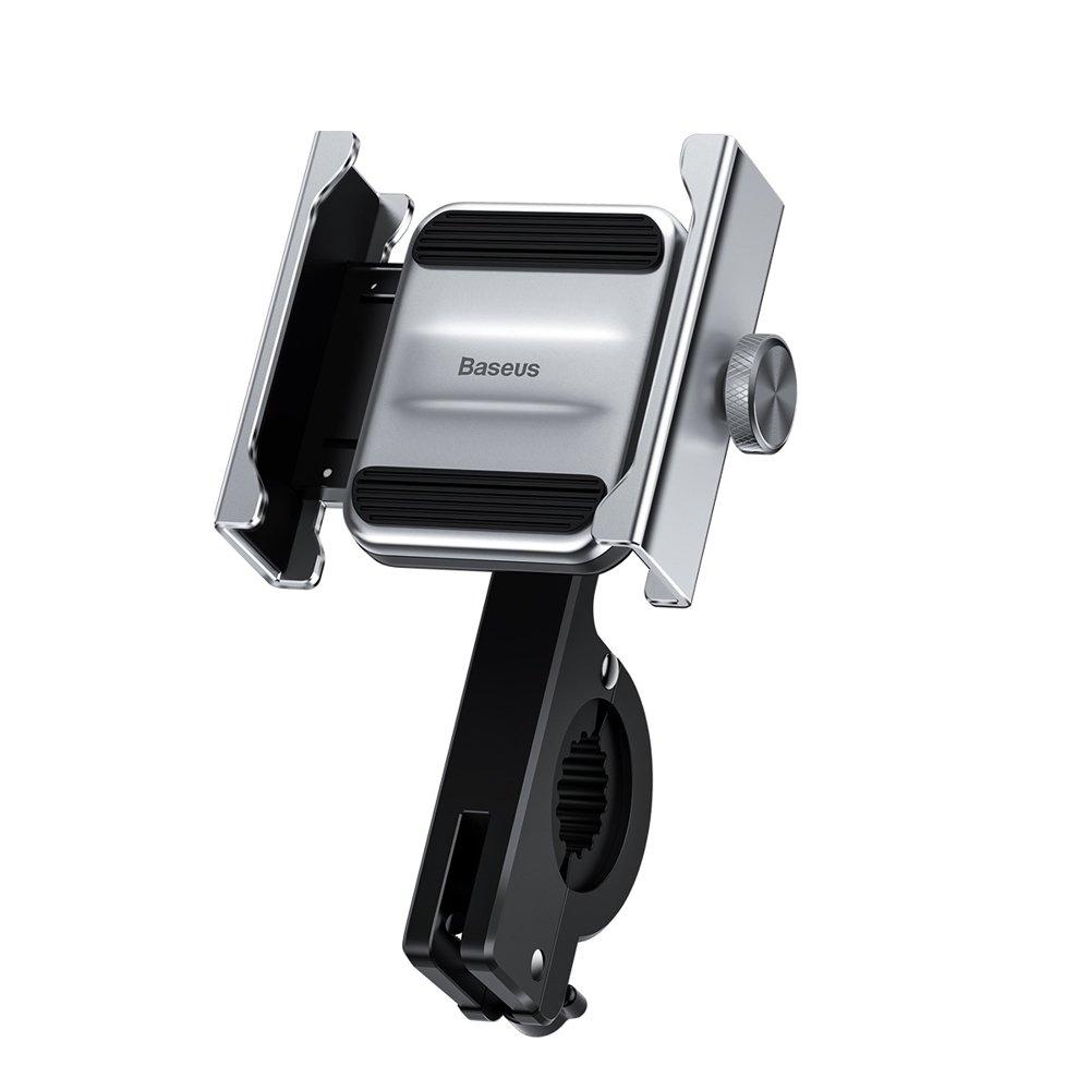 Baseus Knight Motorcycle Holder - Βάση Μηχανής Για Smartphones - Silver (CRJBZ-0S)