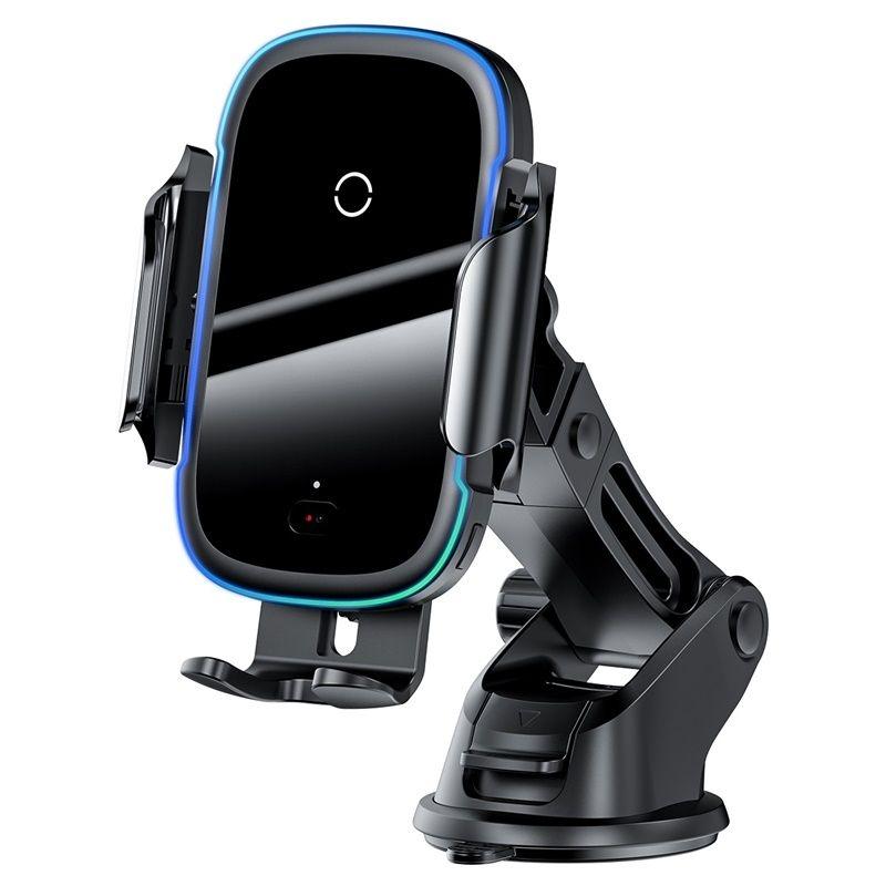 Baseus Light Electric Holder Ασύρματος Φορτιστής - Βάση Στήριξης Αυτοκινήτου - Black (WXHW03-01)