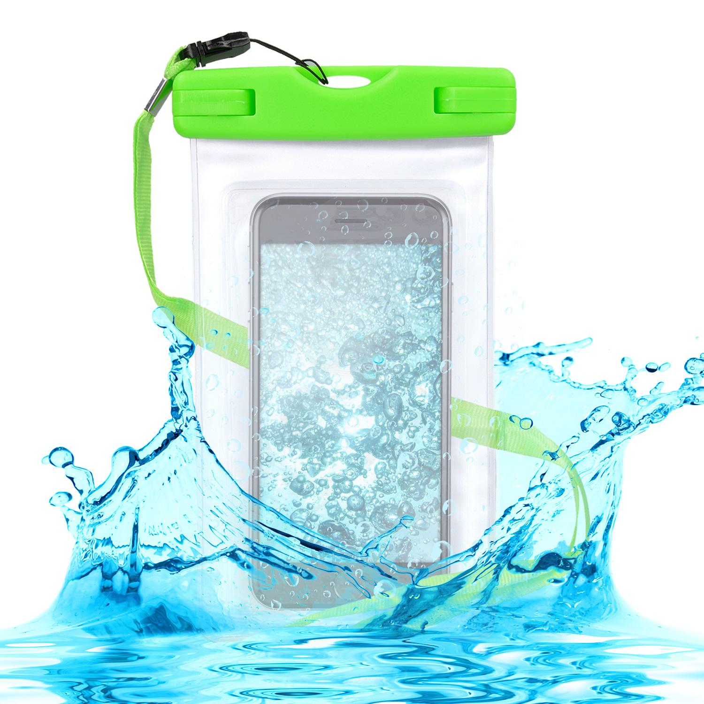 KW Universal Αδιάβροχη Θήκη Πουγκί για Smartphones έως 5.5'' - Green (29945.07)