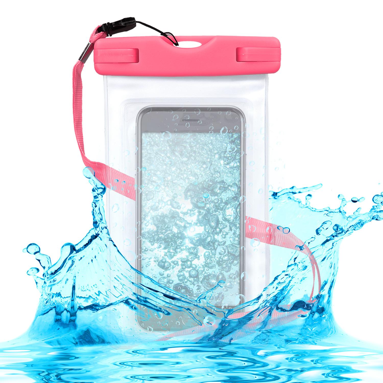 KW Universal Αδιάβροχη Θήκη Πουγκί για Smartphones έως 5.5'' - Pink (29945.08)