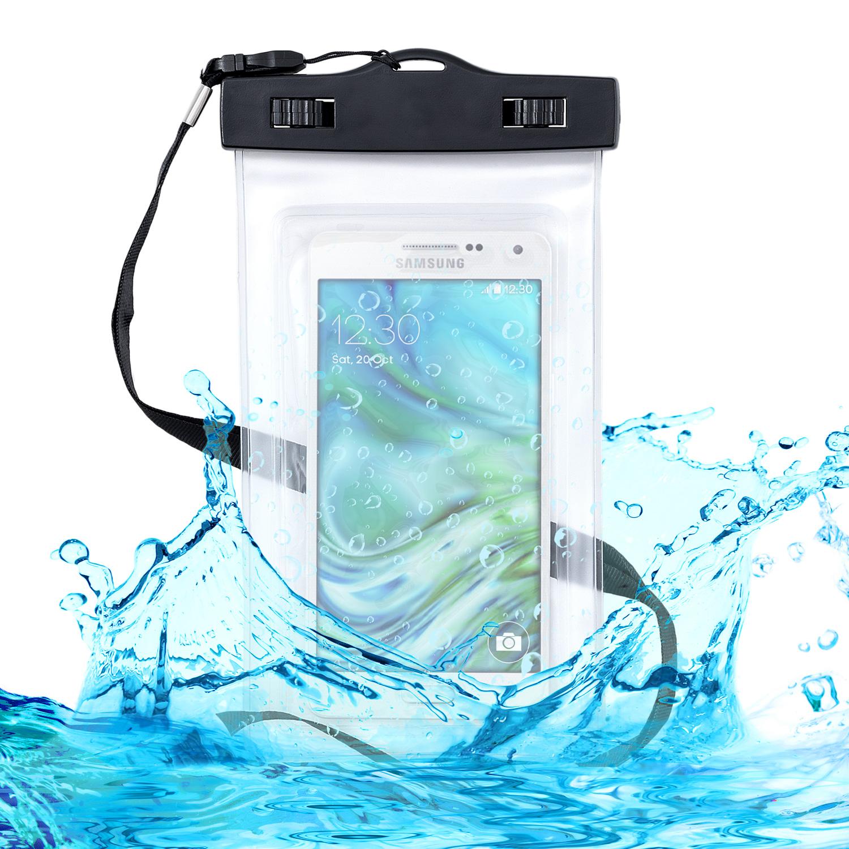 KW Universal Αδιάβροχη Θήκη Πουγκί για Smartphones έως 5.5'' - Black (29945.03)