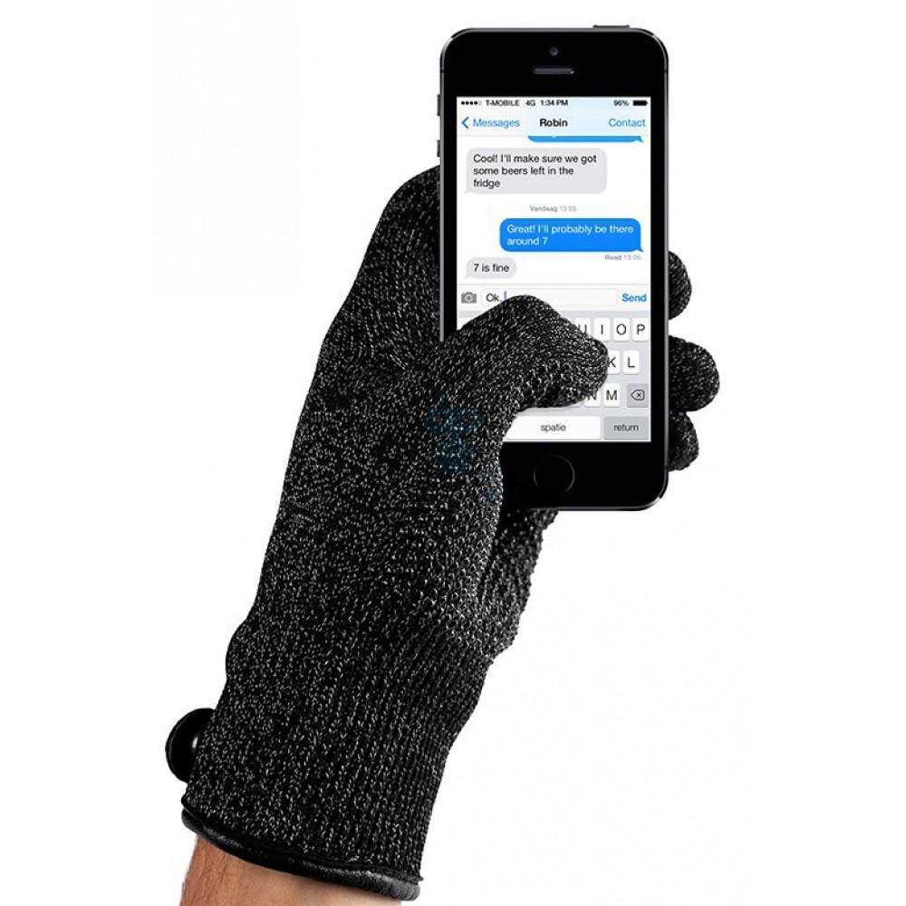 MUJJO Double Layered Touchscreen Gloves - Γάντια για Οθόνη Αφής - Black (L) (14493)