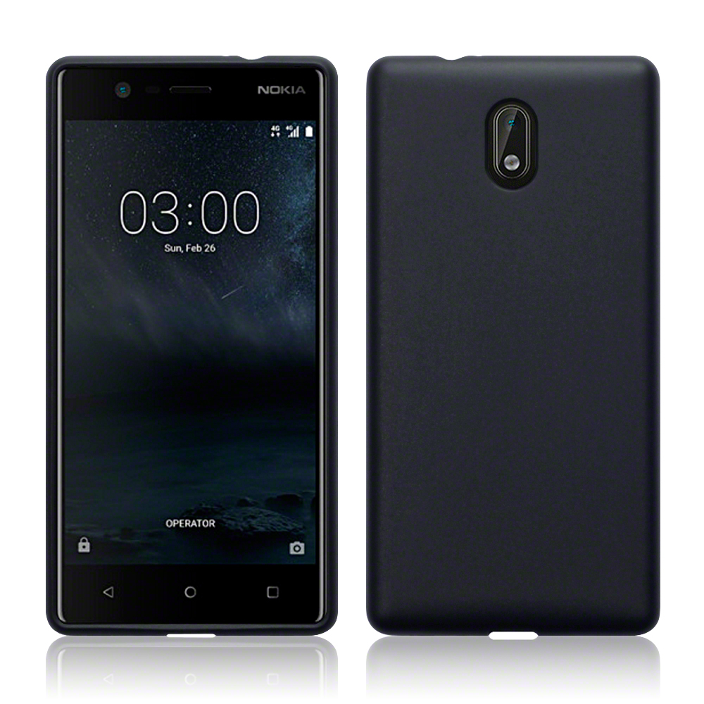 Terrapin Θήκη Σιλικόνης Nokia 3 - Black Matte (118-001-223)