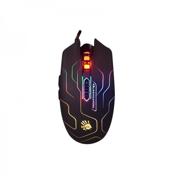 Bloody Q80 Neon XGlide USB Gaming Mouse - Maze (Q80MAZEUSB)