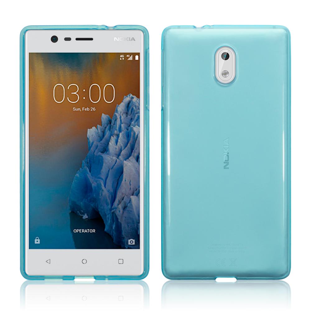 Terrapin Ημιδιάφανη Θήκη Σιλικόνης Nokia 3 - Blue (118-001-222)
