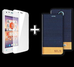 Blue Flip Θήκη MLS Color Mini 4G + Tempered Glass (32.ML.500.030)