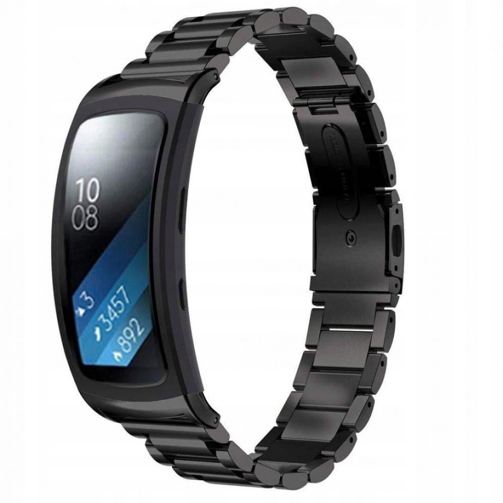 Μεταλλικό Λουράκι Stainless για Samsung Gear Fit 2 / Gear Fit 2 Pro -  Black (13665) - OEM