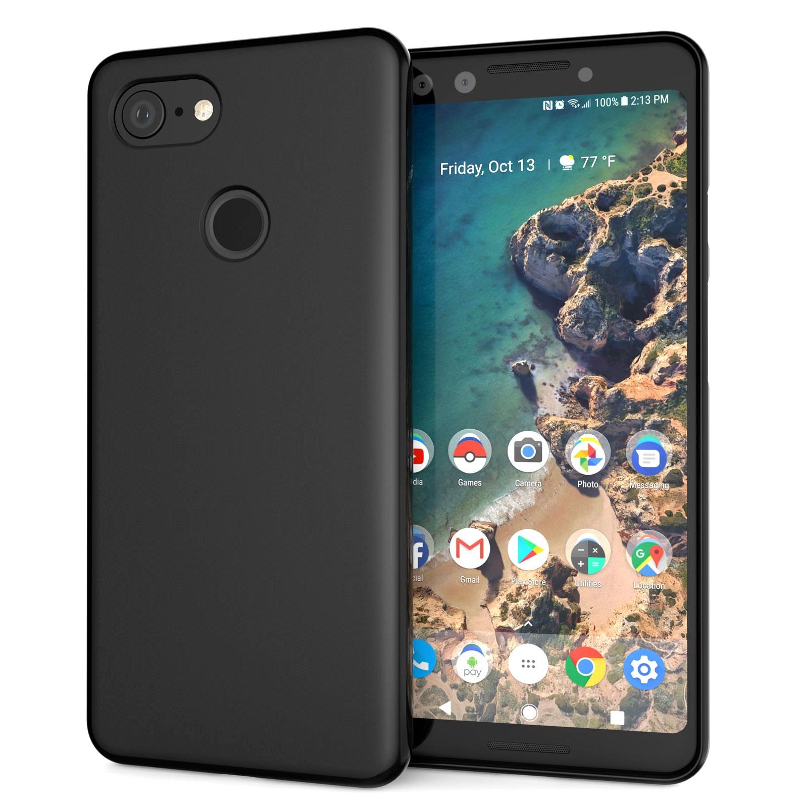 Caseflex Θήκη Σιλικόνης Google Pixel 3 - Black (CS000003GO)