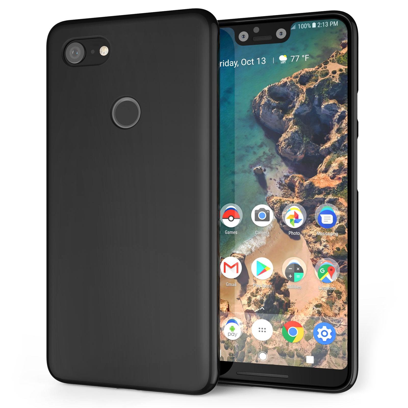 Caseflex Θήκη Σιλικόνης Google Pixel 3 XL - Black (CS0003GOXL)