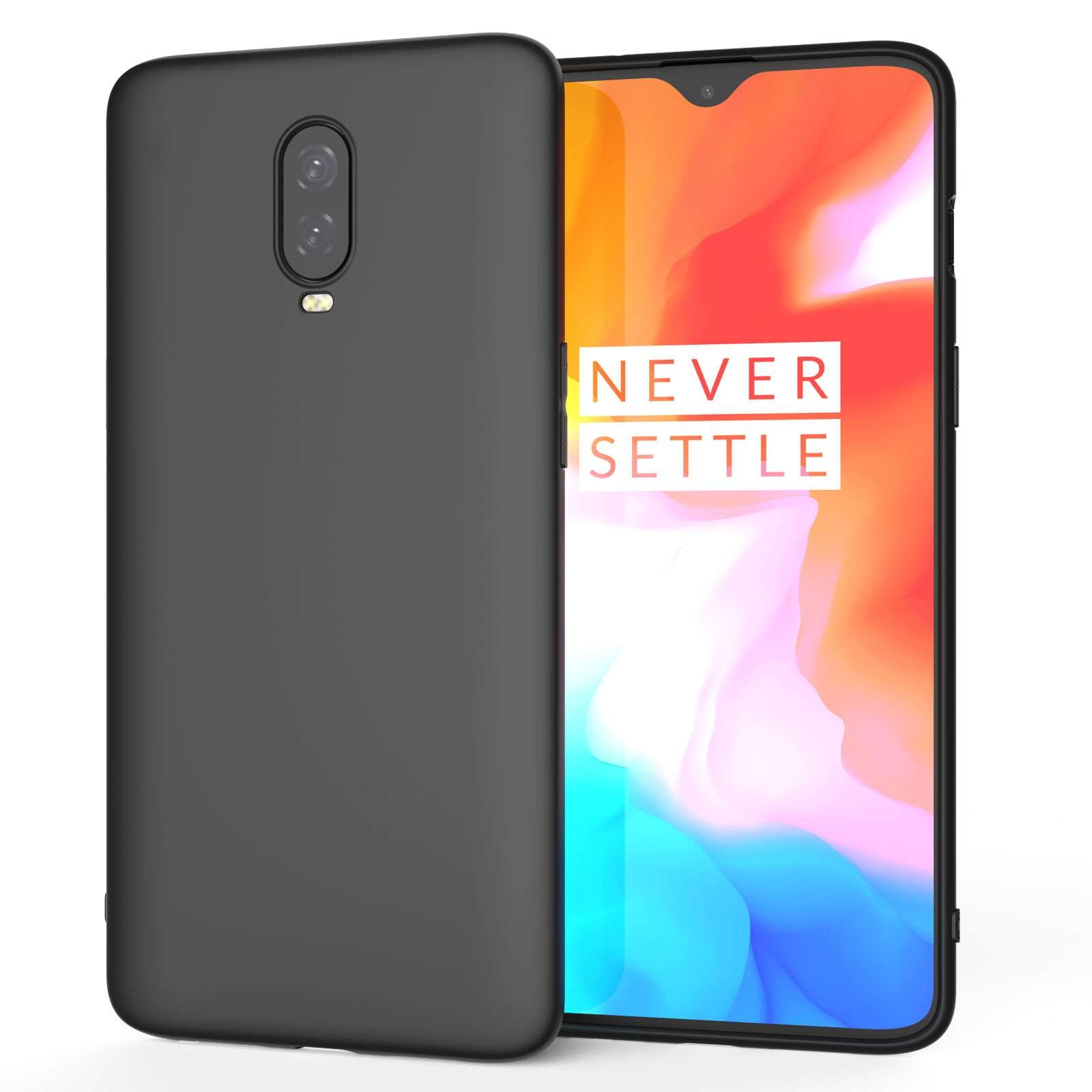 Caseflex Θήκη Σιλικόνης Oneplus 6T - Black (CS000012ON)