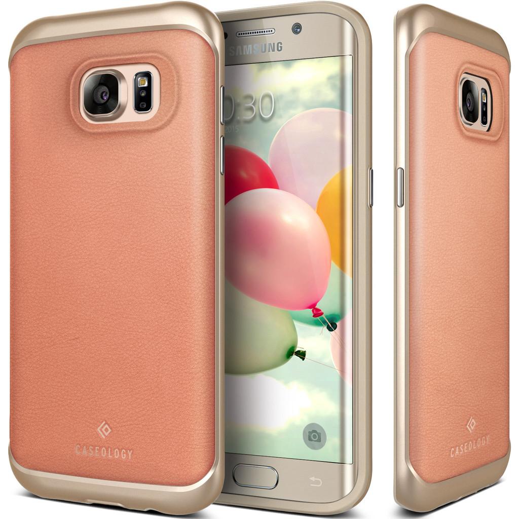 Caseology Θήκη Envoy Series Samsung Galaxy S7 Edge - Leather Pink/Gold (CO-G7E-ENV-PI)