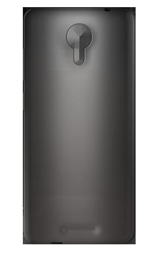 Ημιδιάφανη Θήκη Σιλικόνης MLS MX 4G + Screen Protector - Transparent Black  (32.ML.500.061)