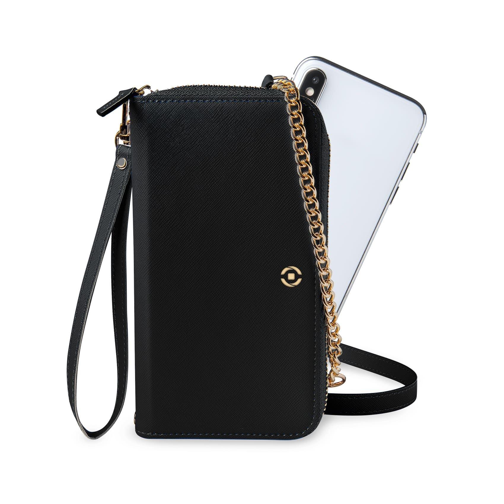 Celly Venere Θήκη - Πορτοφόλι για Smartphones έως 6.5'' - Black (VENEREBK)