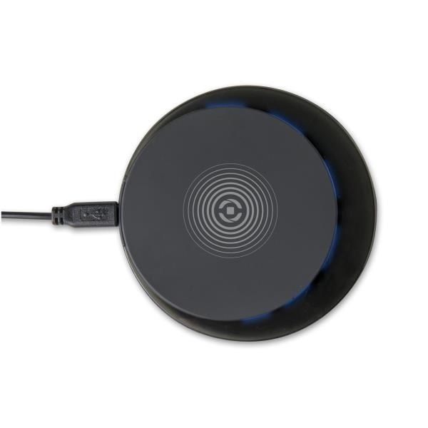 Celly Wireless Fast Charger 10W Ασύρματος Φορτιστής - Με Καλώδιο microUSB - Black (WLFASTPADBK)