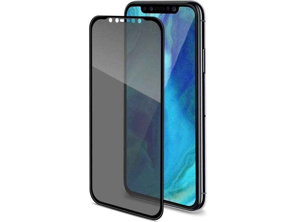 Celly Premium Αντιχαρακτικό Privacy Tempered Glass - iPhone XR - Black (PRIVACY3D998BK)