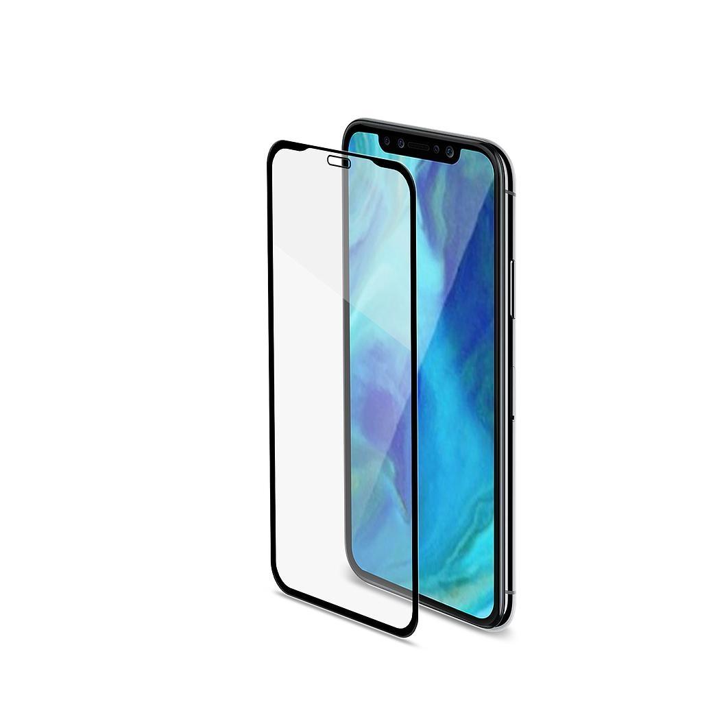 Celly Tempered Glass - Fullface Αντιχαρακτικό Γυάλινο Screen Protector iPhone XR - Black (FULLGLASS998BK)