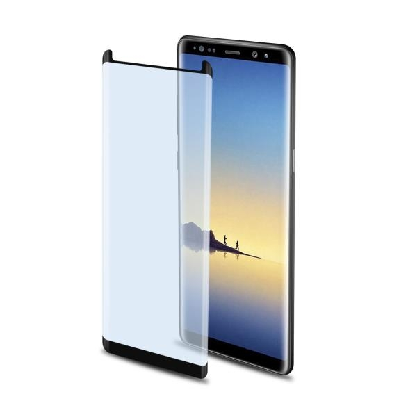 Celly Tempered Glass - Fullface Αντιχαρακτικό Γυάλινο Screen Protector Samsung Galaxy Note 8 - Black (GLASS674F)