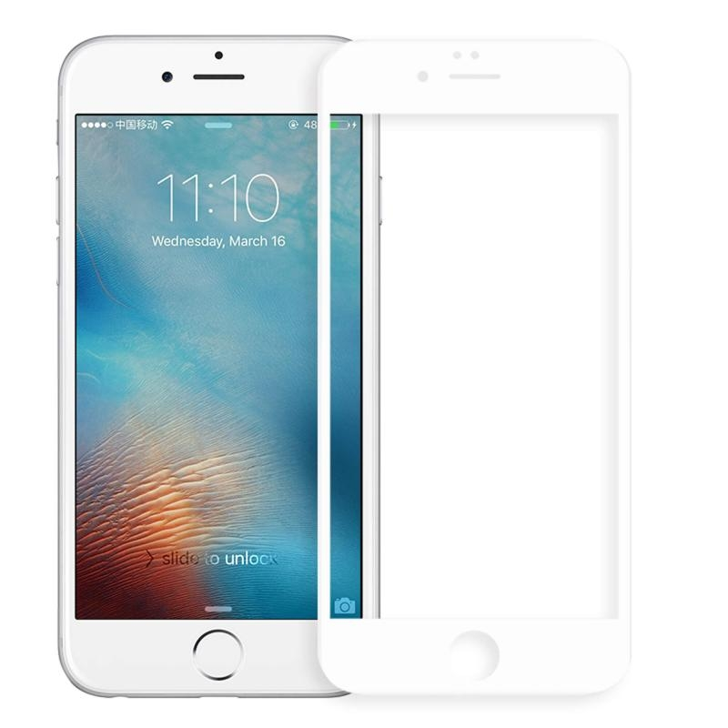 Celly Tempered Glass - Fullface Αντιχαρακτικό Γυάλινο Screen Protector iPhone 8/7/6 - White (GLASS800WH)