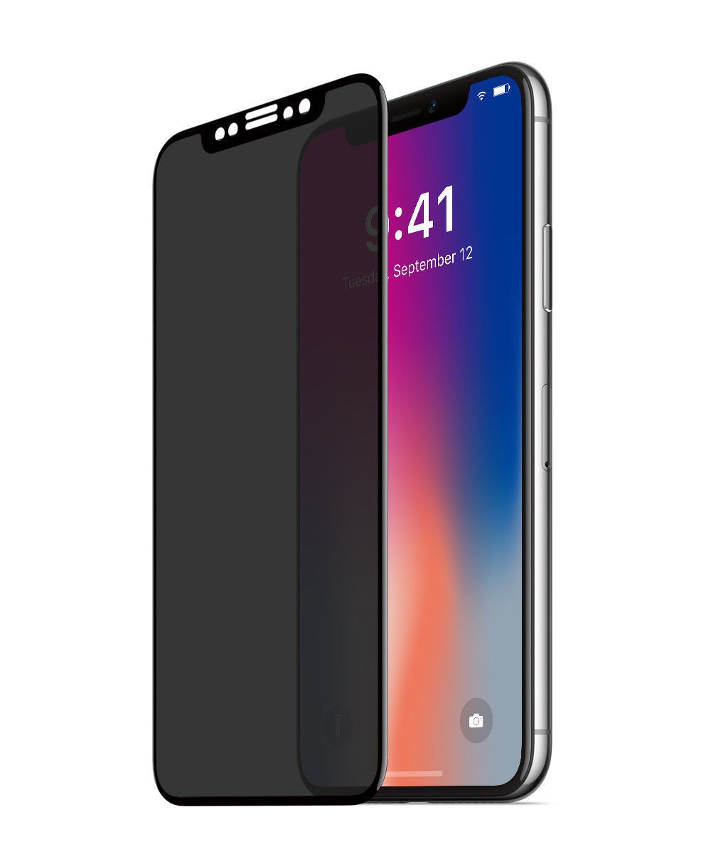 Celly Premium Αντιχαρακτικό Privacy Tempered Glass - iPhone X - Black (PRIVACY3D900BK)