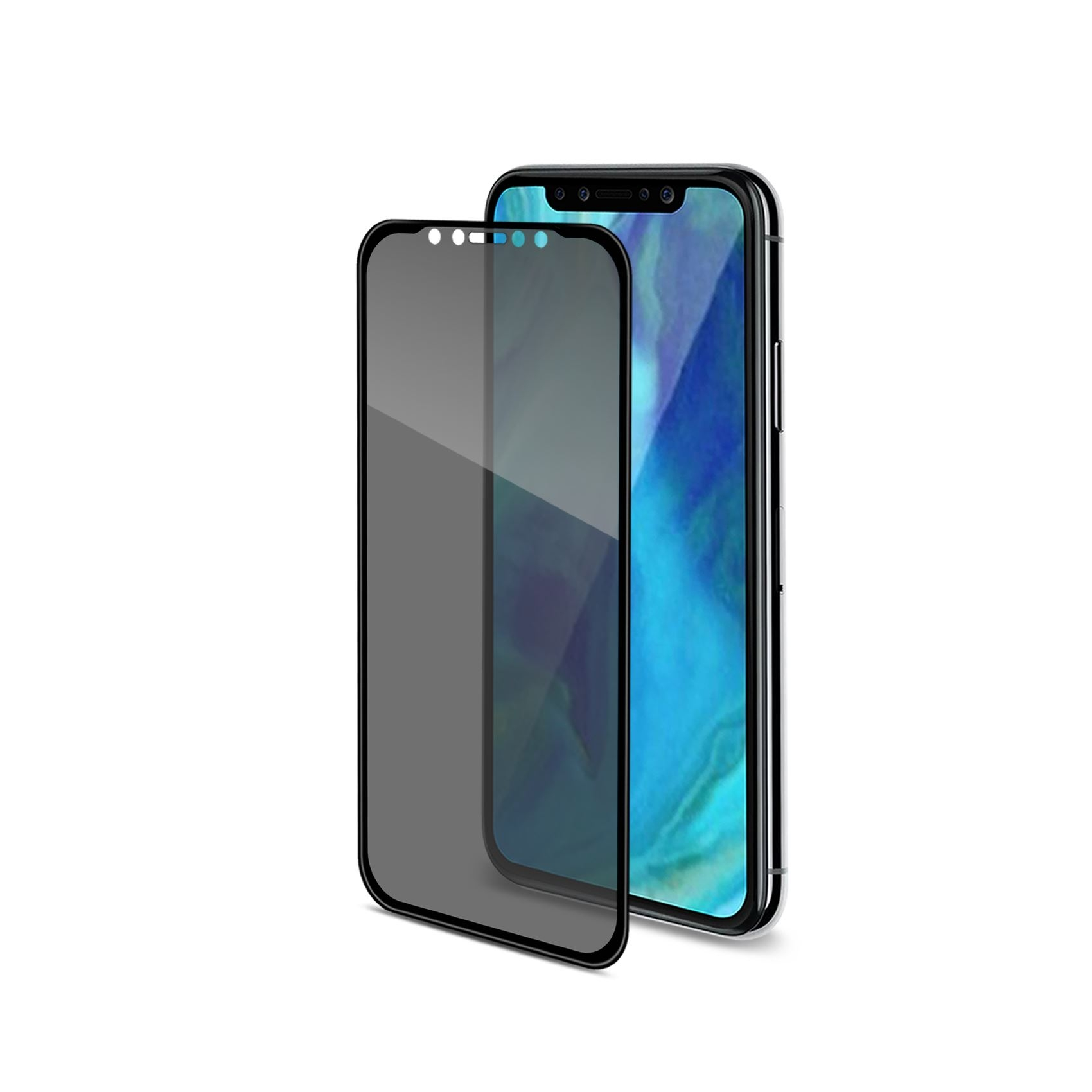 Celly Premium Αντιχαρακτικό Privacy Tempered Glass - iPhone XS Max - Black (PRIVACY3D999BK)