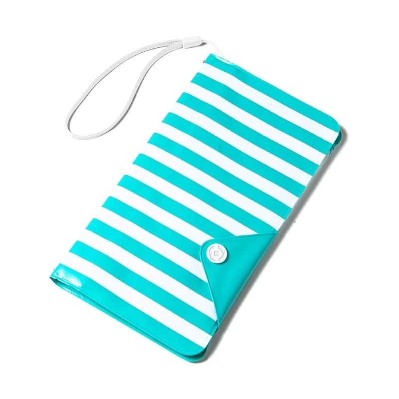 Celly Universal Αδιάβροχη Θήκη Splashproof Wallet για Smartphones έως 5.7'' - IPX4 - Light Blue (SPLASHWALLETTF)