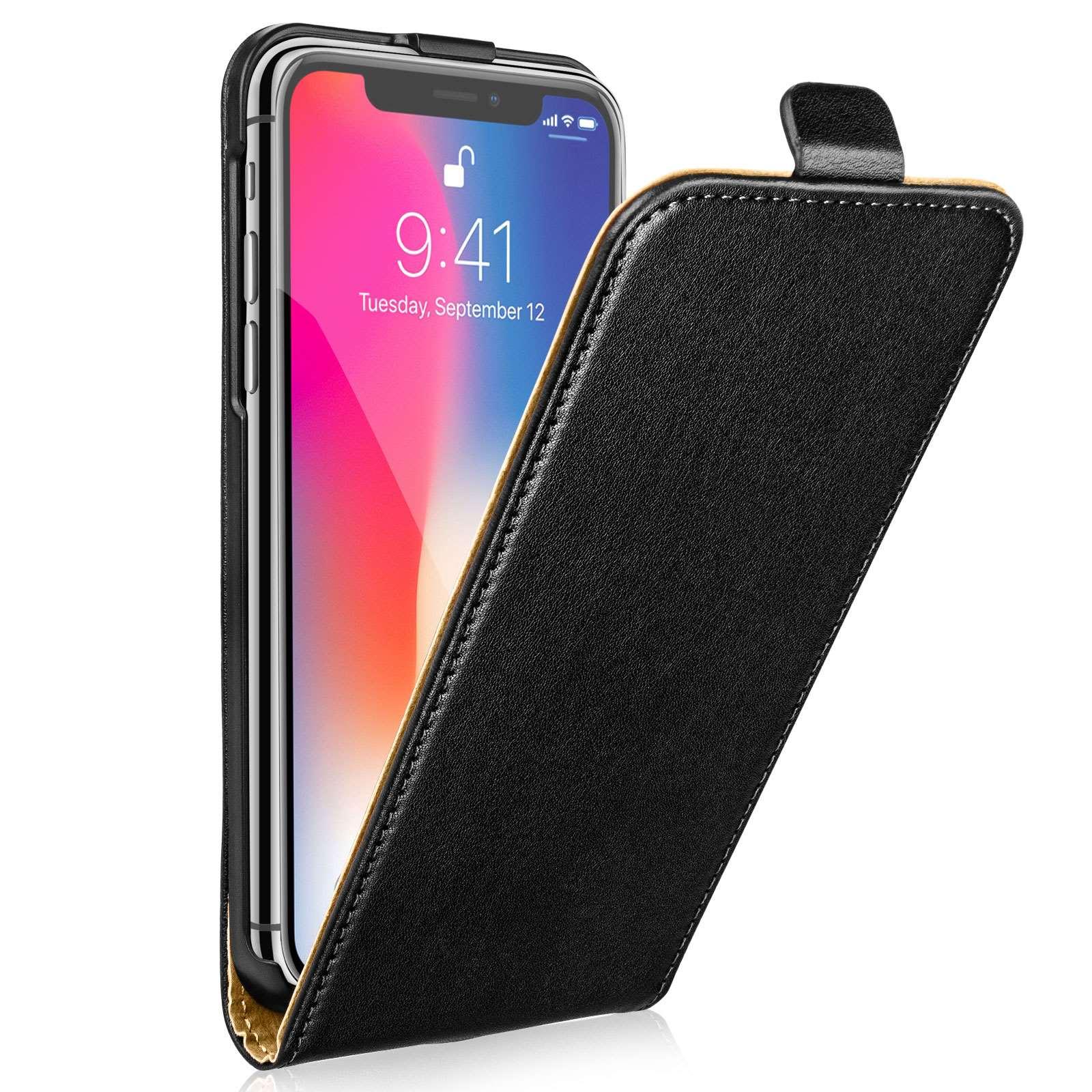 Centopi Θήκη Flip iPhone Χ / XS - Black (CEN-APP-111)
