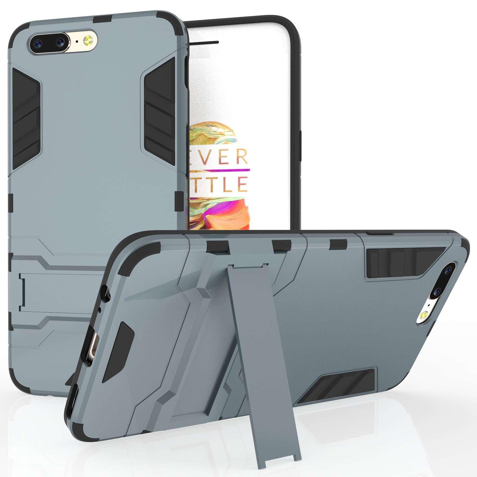 Caseflex Ανθεκτική Dual Layer Θήκη με Stand OnePlus 5 - Steel Blue (X000QHSWMX)