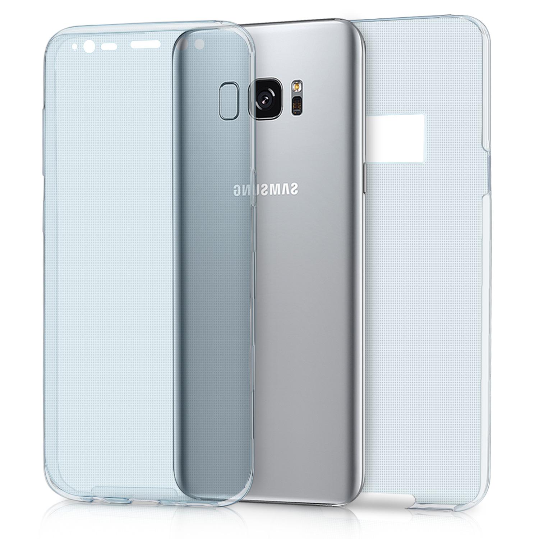 KW Ημιδιάφανη Θήκη Σιλικόνης Full Body για Samsung S8 - Blue (40993.04)