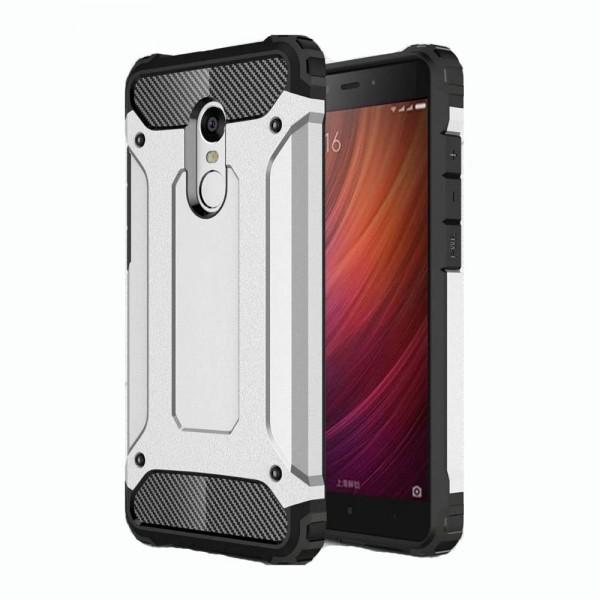 Ανθεκτική Θήκη Hybrid Armor Tough Rugged Xiaomi Redmi Note 4 - Silver - OEM (10989)