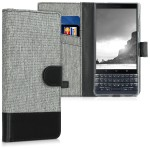 KW Θήκη - Πορτοφόλι Blackberry KEYtwo LE (Key2 LE) - Grey / Black