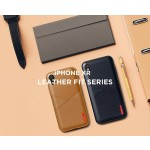 VRS Design Θήκη Leather Fit Label iPhone XR - Brown