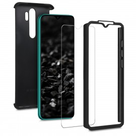 KW Θήκη Full Body Xiaomi Redmi Note 8 Pro & Tempered Glass - Metallic Black