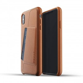 MUJJO Full Leather Wallet Case - Δερμάτινη Θήκη-Πορτοφόλι iPhone XS Max - Tan
