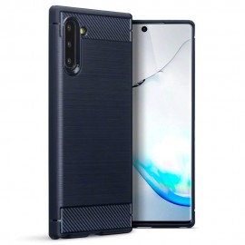 Terrapin Θήκη Σιλικόνης Carbon Fibre Samsung Galaxy Note 10 - Blue