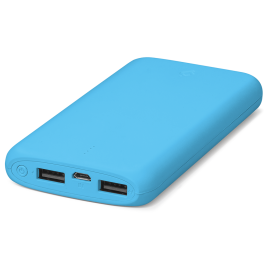 TTEC PowerSlim Dual Universal Mobile Fast Charger (2.1A) - 10000mAh - Blue