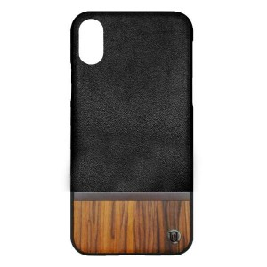 Uunique London Σκληρή Θήκη iPhone X - Black / Genuine Wood