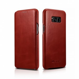 iCarer Vintage Series Side-Open Δερμάτινη Θήκη Samsung Galaxy S8 - Red
