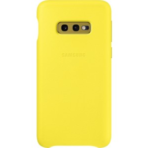 Official Samsung Leather Cover Samsung Galaxy S10e - Yellow