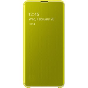 Official Samsung Clear View Cover Samsung Galaxy S10e - Yellow (EF-ZG970CYEGWW)