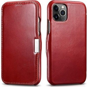 iCarer Vintage Series Side-Open Δερμάτινη Θήκη iPhone 11 Pro Max - Red