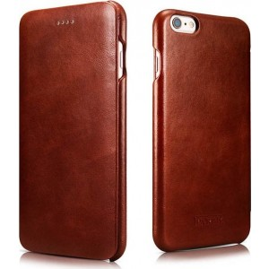 iCarer Vintage Series Curved Edge - Δερμάτινη Θήκη iPhone 6 Plus / 6S Plus - Brown