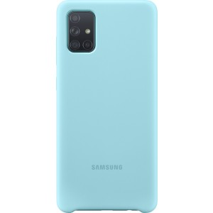 Official Samsung Θήκη Σιλικόνης Samsung Galaxy A71 - Blue