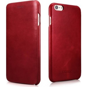 iCarer Vintage Series Curved Edge Side-Open - Δερμάτινη Θήκη iPhone 6S / 6 - Red