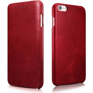 iCarer Vintage Series Curved Edge - Δερμάτινη Θήκη iPhone 6 Plus / 6S Plus - Red
