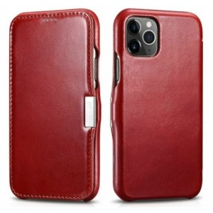 iCarer Vintage Series Side-Open Δερμάτινη Θήκη iPhone 11 Pro - Red