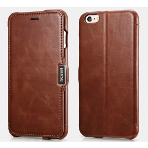 iCarer Vintage Series Side-Open Δερμάτινη Θήκη iPhone 6 Plus / 6S Plus - Brown