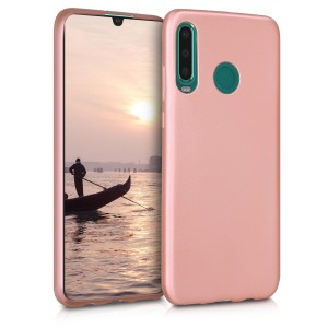 KW Θήκη Σιλικόνης Huawei P30 Lite - Metallic Rose Gold