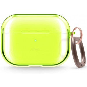 Elago Airpods Pro Clear TPU Hang Case - Ημιδιάφανη Θήκη για Airpods Pro - Neon Yellow
