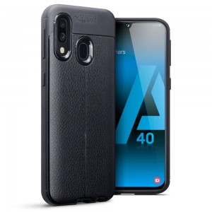 Terrapin Leather Texture TPU Θήκη Samsung Galaxy A40 - Black
