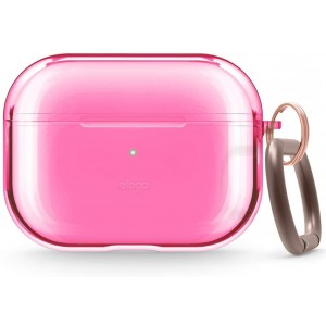 Elago Airpods Pro Clear TPU Hang Case - Ημιδιάφανη Θήκη για Airpods Pro - Neon Hot Pink